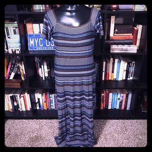 Laundry by Shelli Segal Striped Maxi Dress